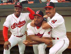 Kenny Lofton, Albert Belle and Carlos Baerga Cleveland Team, Cleveland Indians Baseball, Cleveland Browns, Cleveland Scene, Cincinnati, Kenny Lofton, American League, Baseball Players, Mlb Players