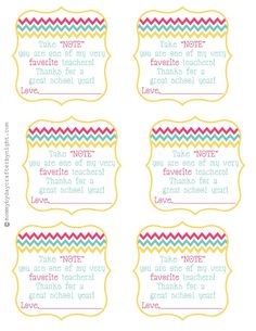 Teacher gift idea + free printable {Teacher Appreciation} | Skip To My Lou