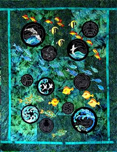 Sylvia Pippen's tropical Sealife Sampler quilt