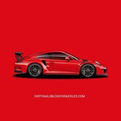 Guards red. Dirtynailsbloodyknuckles.com Link in profile #porsche #911 #porsche911 #porscheart #991 #gt3 #911gt3 #gt3rs #991gt3 #911gt3rs #rs #gt3 #porschegt3 #991911 #automotiveart #illustration #carart #automotiveillustration #signalgreen #lavaorange #gulf #guardsred #porschelife #porscheracing