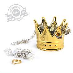 Ringholder Royal golden ceramic - Balvi