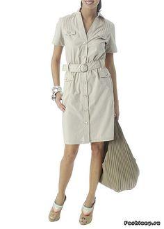 Шитье: платье из льна в стиле сафари (платье, сафари, стиль) ФОТО #4
