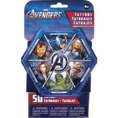 Amazon.com: Marvel Avengers Temporary Tatoos - 50 Tattoos per package!: Toys & Games
