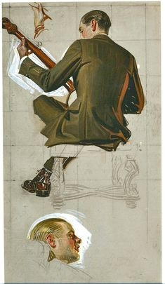 J.C. Leyendecker sketches RePinned from Will Weston