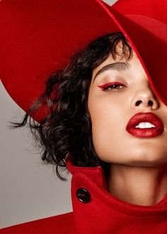 As a color that symbolizes passion, love, and danger, even luck in Asian cultures, it is the main focus in a Harper's Bazaar online editorial called, 'Red Alert'.
