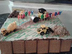 Baustelle Torte Bagger Walze
