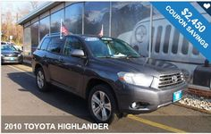 2010 TOYOTA HIGHLANDER / $2,450 IN COUPONS ! Coupons on the car you love!