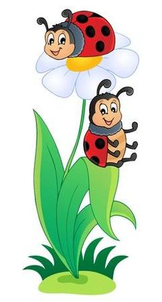 Image with ladybug theme 3 - ilustratie vectoriala de Klara Viskova (clairev) - Stockfresh Art Drawings For Kids, Drawing For Kids, Cute Drawings, Kids Art Class, Art For Kids, Fabric Painting, Painting & Drawing, Ladybug Cartoon, 3d Cartoon