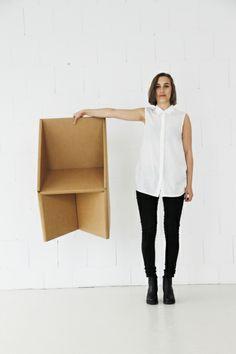 Dentro, cardboard chair by Jordi Iranzo
