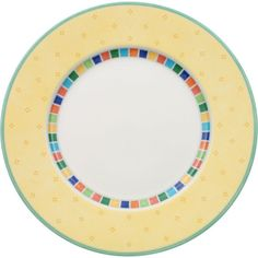 VILLEROY & BOCH Twist Alea Limone flat plate 27cm ($31) ❤ liked on Polyvore featuring home, kitchen & dining, dinnerware, colorful dinnerware, villeroy boch plate, colorful plates, porcelain plates and colorful porcelain dinnerware