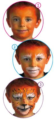 Tiger Face Painting Design craft for kids
