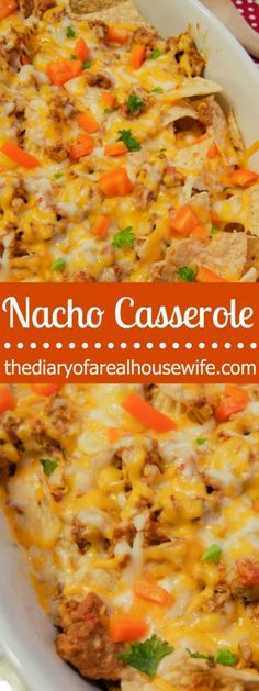 Nacho Casserole. Serve to a big crowd as an awesome appetizer or for dinner on game day.