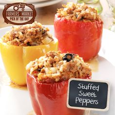 Stuffed Sweet Peppers Recipe from Taste of Home