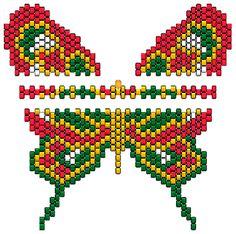 Peyote or brick stitch pattern Beading Patterns Free, Seed Bead Patterns, Peyote Patterns, Loom Patterns, Beading Tutorials, Beaded Banners, Peyote Beading, Beaded Animals, Beaded Jewelry
