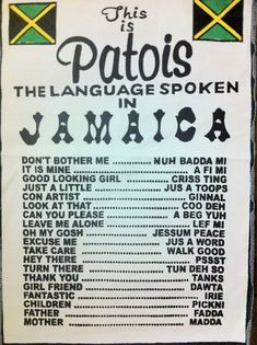 Some of the language spoken in jamaica Kingston, Jamaica Vacation, Jamaica Travel, Jamaica Jamaica, Jamaica Trips, Jamaica People, Jamaica House, Visit Jamaica, Montego Bay Jamaica