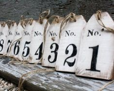 Items similar to 15 Wood Wedding Table Numbers Whitewash Rustic Beach Wedding Country Wedding Tags Sign Black on Etsy Barn Signs, Rustic Signs, Rustic Wood, Rustic Barn, Diy Wood, Wedding Tags, Rustic Wedding, Wedding Beach, Wedding Country