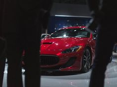 The Maserati #GranTurismo MC Centennial Edition in Rosso Magma can be leased with Premier's Simple Leasing program at www.pfsllc.com #NYIAS (Image Source: twitter.com)