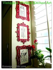 DIY kitchen wall art using free printables and frames from michaels