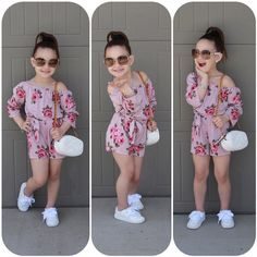 Girl Jumpsuits US Kids Baby Girl Romper Floral Jumpsuit Sunsuit Summer Outfits Clothes Summer Outfits baby clothes Floral girl jumpsuit Jumpsuits Kids Outfits Romper Summer Sunsuit Cute Little Girls Outfits, Girls Summer Outfits, Dresses Kids Girl, Little Girl Fashion, Jumpsuits For Girls, Girls Rompers, Toddler Girl Style, Toddler Girl Outfits, Baby Dress Design