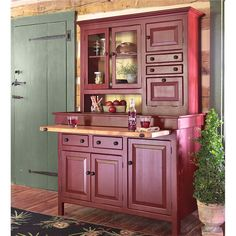 Large, painted-finish Amish Conestoga cupboard (variety of paint colors available) Country Furniture, Home Decor Furniture, Kitchen Furniture, Furniture Makeover, Cool Furniture, Kitchen Decor, Kitchen Colors, Country Decor, Painted Furniture