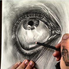 Realistic Drawings amazing drawing but so creepy Amazing Drawings, Realistic Drawings, Amazing Art, Cool Drawings, Amazing Sketches, Awesome, Mandala Fun, Pencil Art, Pencil Drawings