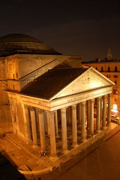 The Pantheon, Rome, Italy from our balcony. A must see!