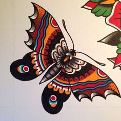 Risultati immagini per american traditional moth tattoo Butterfly Tattoo Cover Up, Butterfly Tattoo Meaning, Butterfly Tattoo On Shoulder, Butterfly Tattoos For Women, Butterfly Tattoo Designs, Butterfly Wings, Traditional Butterfly Tattoo, Neo Traditional Tattoo, American Traditional