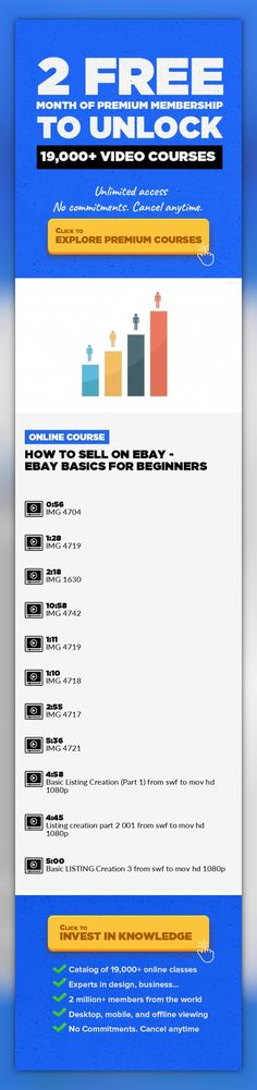 How to Sell on eBay - eBay Basics for Beginners Entrepreneurship, Home Business, Lifestyle, Work From Home, Ebay, EBay Seller, Sell On EBay #onlinecourses #onlinelessonslink #CoursesDrawing   Do you want to make extra income while working from home by selling everyday used or new items on eBay? Trust me it's possible! This course and my unique strategies and templates can help you achieve this! Yo...