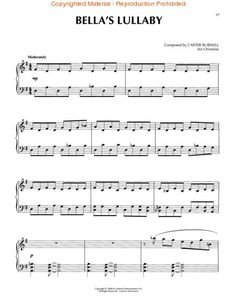 Twilight - The Score (Piano Solo) Sheet Music by Carter Burwell | Sheet Music Plus