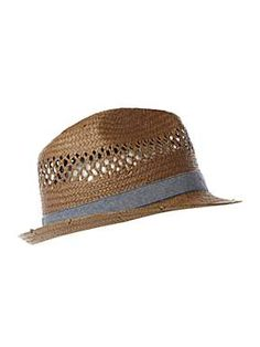 Linea Straw trilby - House of Fraser