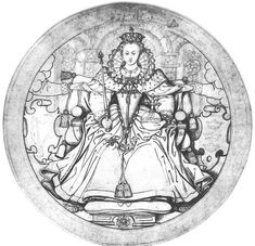 Elizabeth I c.1584 (70 Kb); Pen and ink wash over pencil; British Museum, London. Nicholas Hilliard.