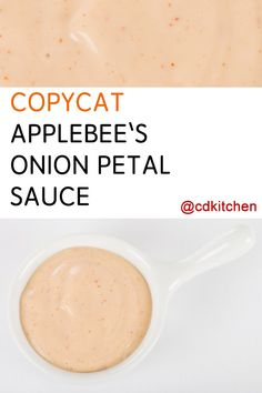 This copycat spiced mayo will become one of your go-to condiments. Horseradish, ketchup, and cayenne turn ordinary mayo into a delightful dip for anything fried. Horse Radish Sauce Recipe, Onion Blossom Sauce Recipe, Blooming Onion Dipping Sauce Recipe, Outback Blooming Onion Sauce, Onion Rings Dipping Sauce, Onion Ring Sauce, Dipping Sauces, Fried Pickle Dipping Sauce, Soups