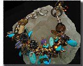 Sterling, Turquoise, Citrine, Chalcedony, Herkimer Diamondns, Tourmaline, Quartz, Antique Buttons, Paua, Ancient Celtic Money Ring