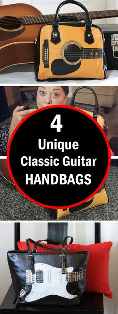 Amazing Classic Guitar Handbags available now. Check out the different styles including Acoustic, Electric and Bass guitars. Check out the whole collection now!