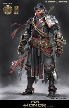 Hi,guys!I am so glad to share my latest practice with u .This one is my fan art for the amazing game For Honor!You guys could have recognized that there was no section of China,so I decide to make one for it,and here it is,a Chinese Warrior !And I really hope u guys like it!