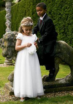 Pretty flower girl dress.  (Confetti - boys wear for weddings website)