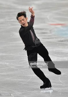 Daisuke Takahashi of Japan performs in the men's short program during All Japan Figure Skating Championships at Saitama Super Arena on December 21...
