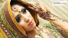 Mehendi Henna Function South Ssian Saree -  more inspiration @ http://www.ModernRani.com
