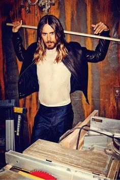 So I'm not usually a fan of long hair on dudes... But Jared Leto is looking pretty good these days.