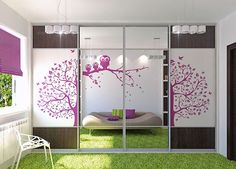 vinyl decals or stickers sliding wardrobe doors