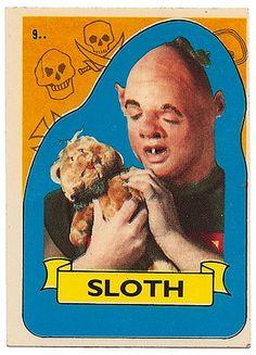 Sloth trading card (Goonies)