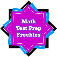 Over 40 FREE Math Items for a variety of areas in one spot! These can be used ALL YEAR, not just for test prep!