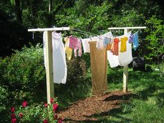 Clothes line photo - no tutorial or explanation, but different set-up.