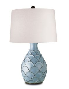 Blue Home Accessories Roehampton Table Lamp With Terracotta By Currey Candelabra Light