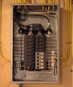 basics of an electrical panel done visually as it would be best rh pinterest com Old Electrical Panels Residential residential electrical panel wiring diagram