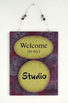 Wall hanging sign for Your Art or Creative Studio by TheArtofMind, $40.00