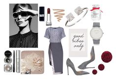"""Grey is the new black"" by irene-paula ❤ liked on Polyvore featuring Lattori, Gianvito Rossi, Graham & Brown, Larsson & Jennings, Victoria's Secret, Topshop and Bobbi Brown Cosmetics"