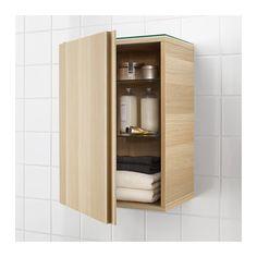GODMORGON Veggskap med 1 dør - hvitbeiset eikemønster - IKEA