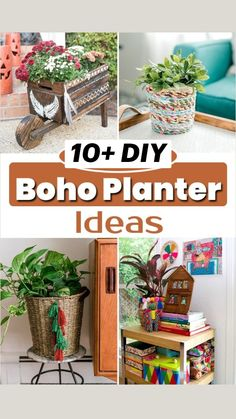 Boho Diy, Boho Decor, Bohemian, Recycled Crafts, Diy Crafts, Garden Projects, Diy Projects, Garden Art, Home And Garden