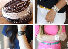 Bicast Leather Wrap Bracelets (for dad to make?)